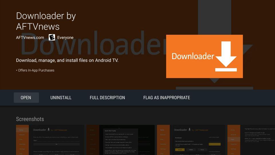 downloader app installed