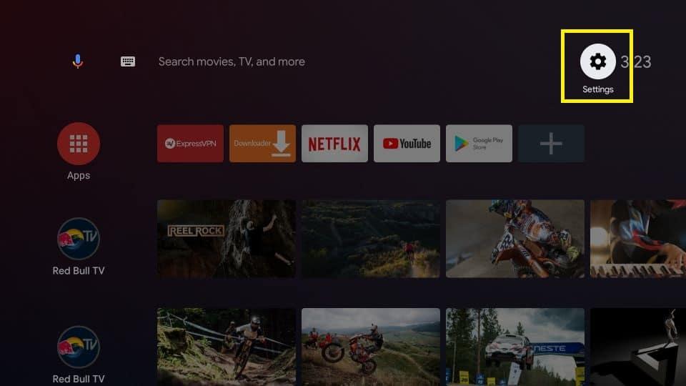 nova tv apk on Xiaomi mi box