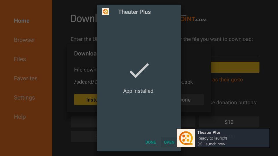theater plus apk for amazon fire tv stick