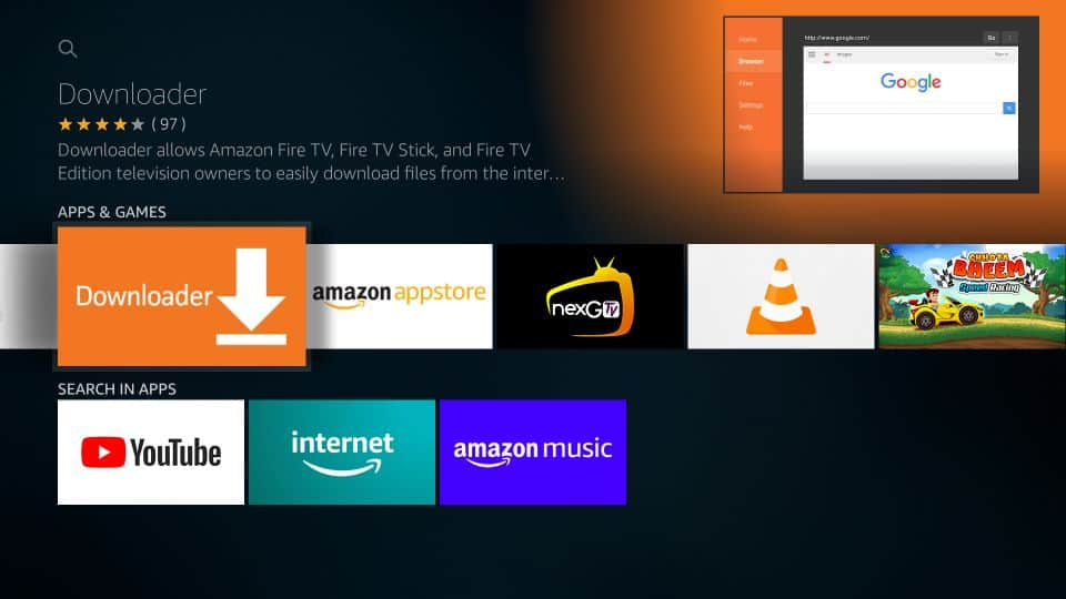 Download mouse toggle apk on fire tv