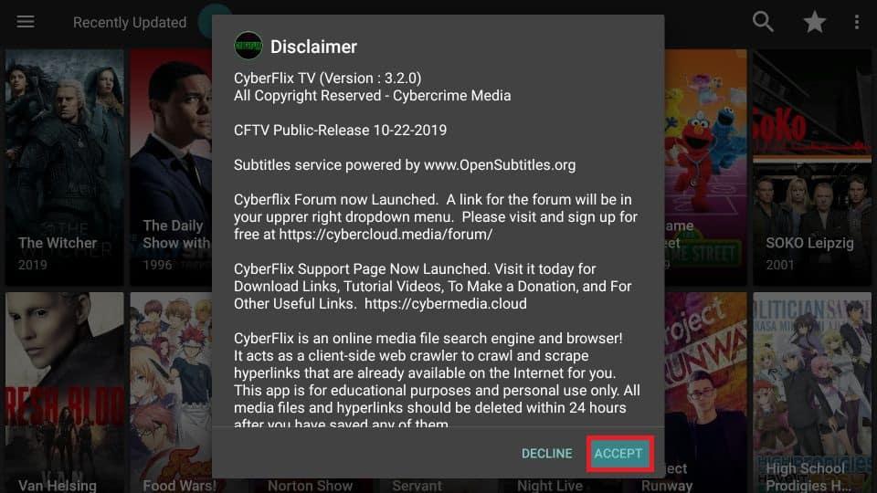 how to use Cyberflix TV apk on Firestick