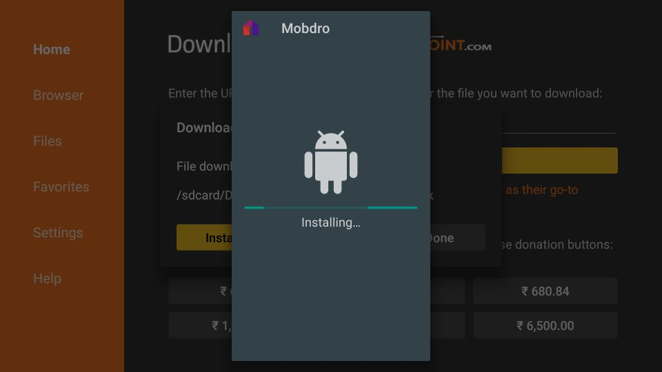 install mobdro apk on fire stick