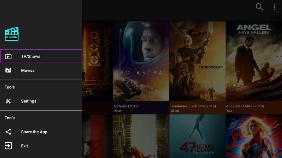Morphix TV APK on Firestick