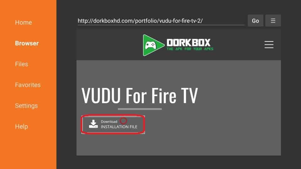 how to install Vudu APK on Firestick