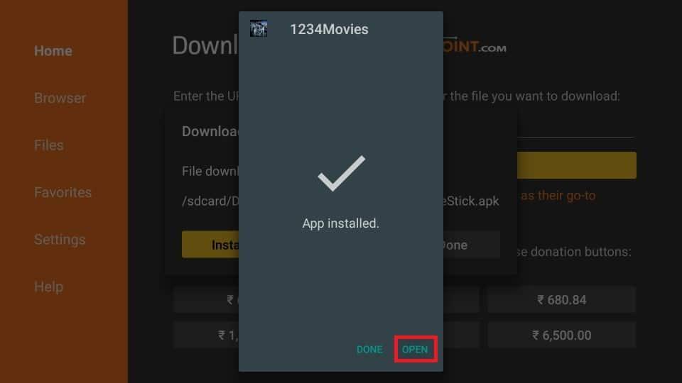 steps to install 1234Movies APK