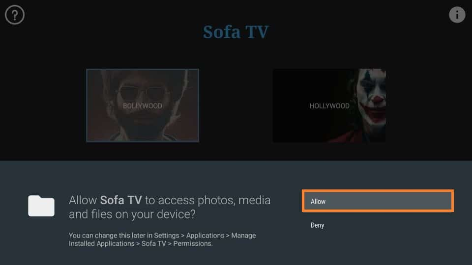 Sofa TV APK for Firestick