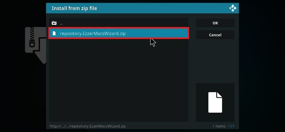 Click repository.EzzerMacsWizard.zip