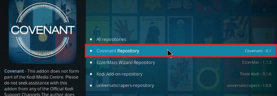 how to install Covenant addon on Kodi