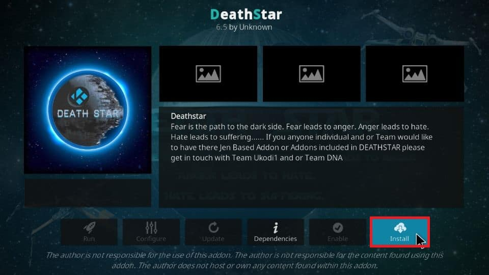 how to install DeathStar addon on Kodi