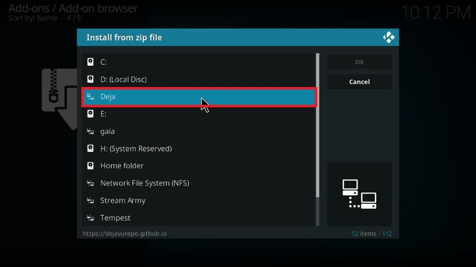 DejaVu addon for Kodi 19 and Kodi 18