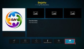 how to install DejaVu addon on Kodi