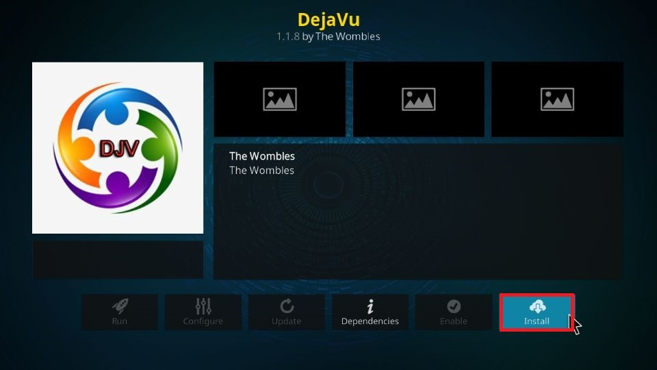 how to install DejaVu addon on Kodi 19 and Kodi 18