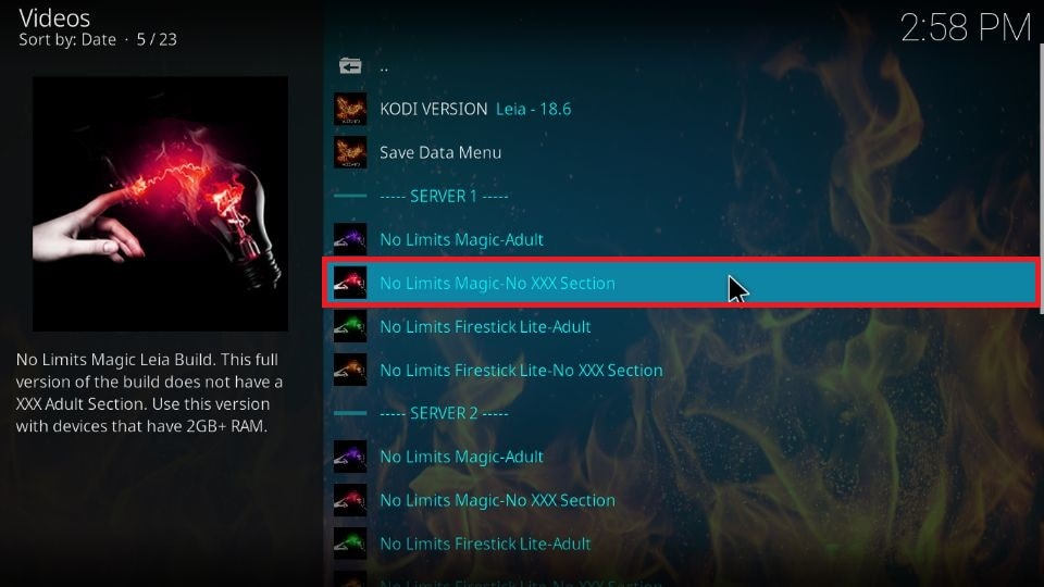 No Limits Magic build for Kodi