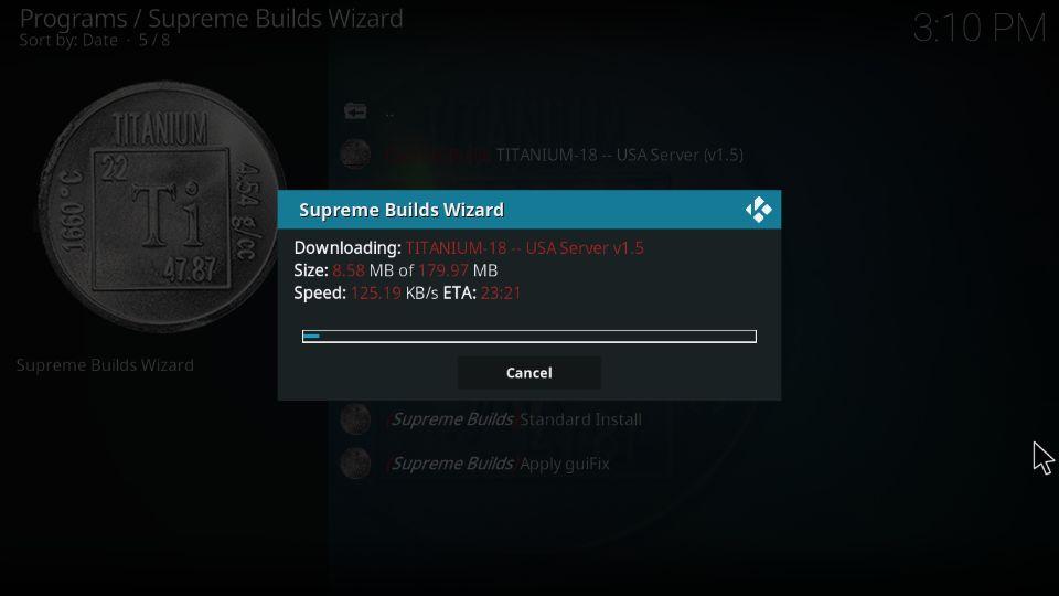Titanium Kodi build