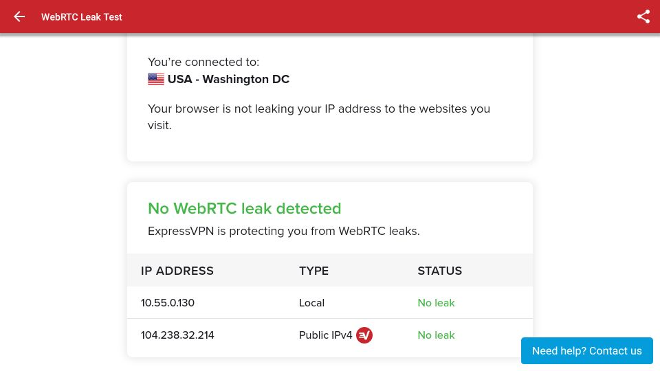 no webrtc leak