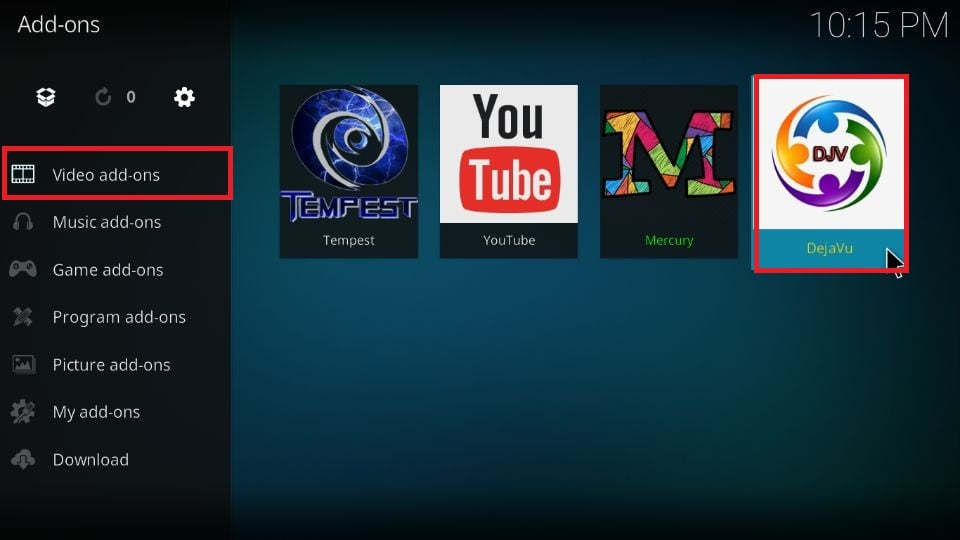 how to use DejaVu addon on Kodi 19 and Kodi 18