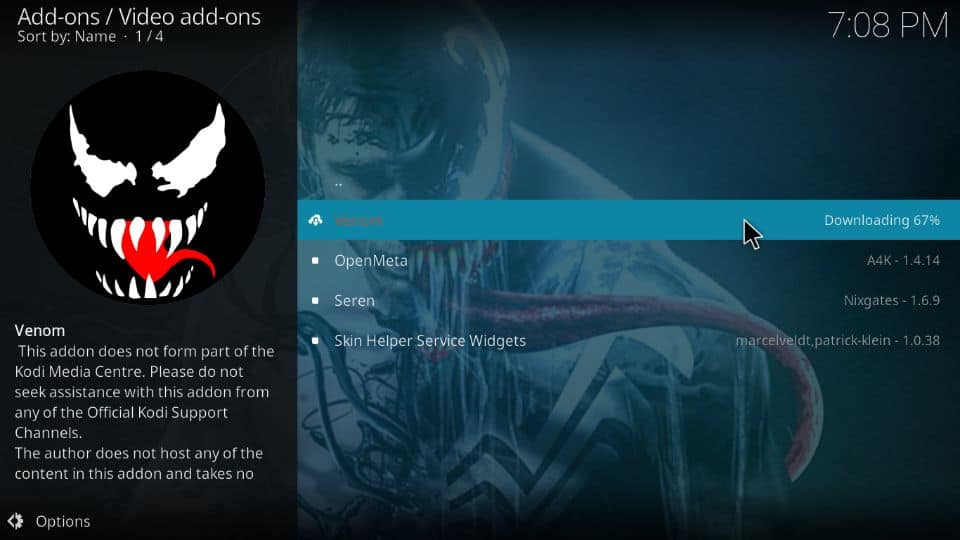 how to get Venom addon on Kodi