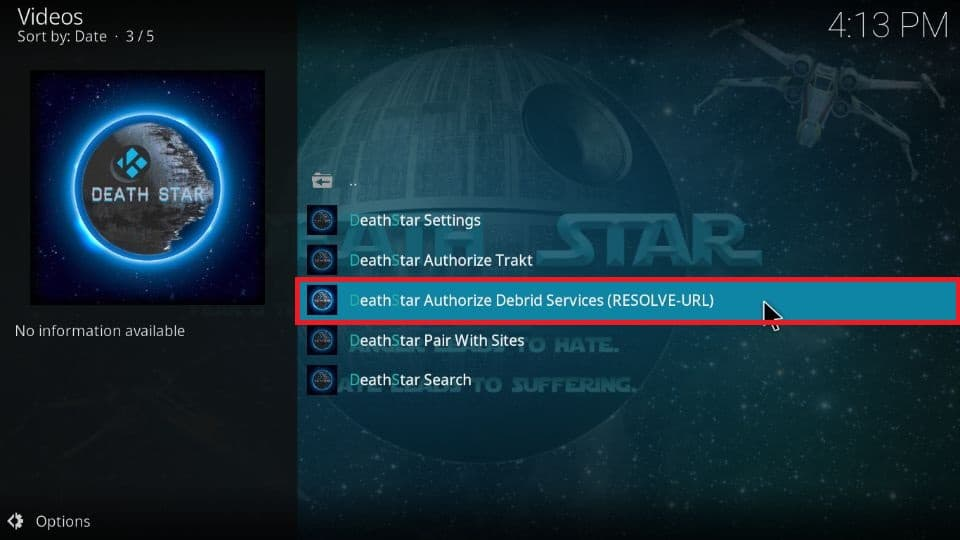 set up Real Debrid on DeathStar on your Kodi
