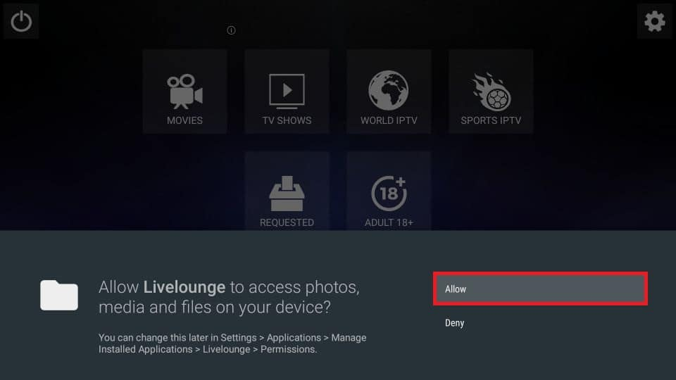 Live Lounge APK for Firestick