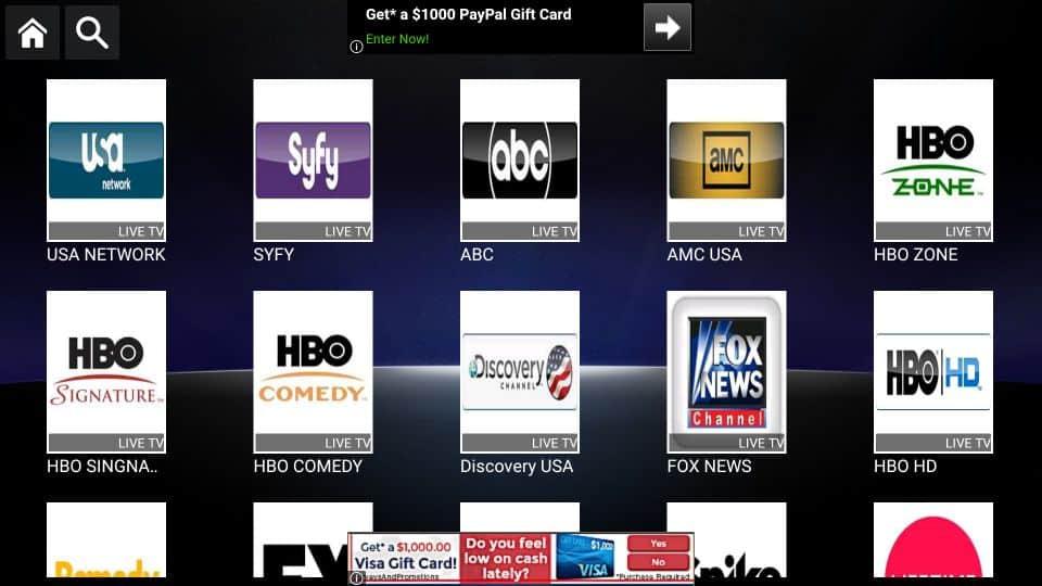 USA channels