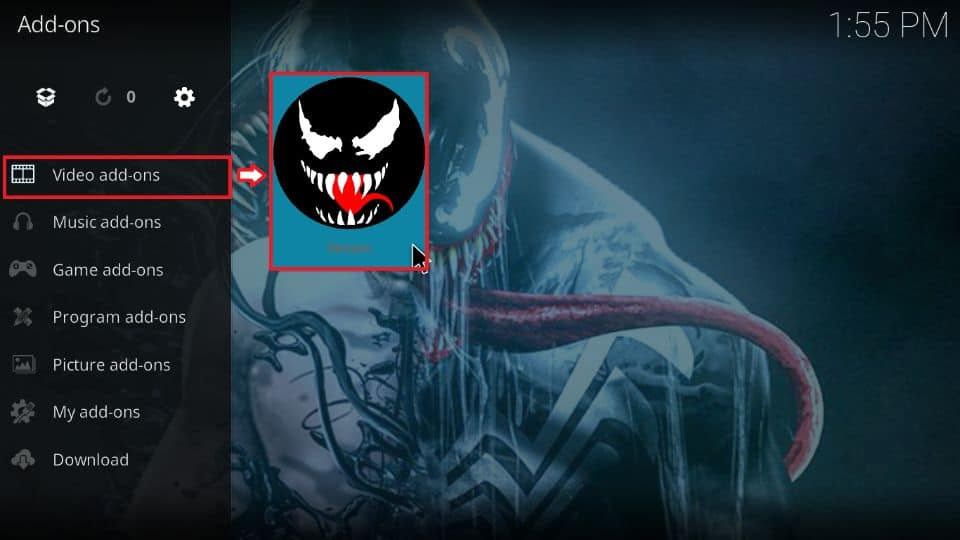 install Venom addon on Kodi 19 and Kodi 18