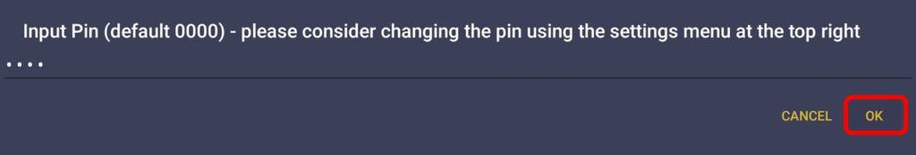 enter the pin