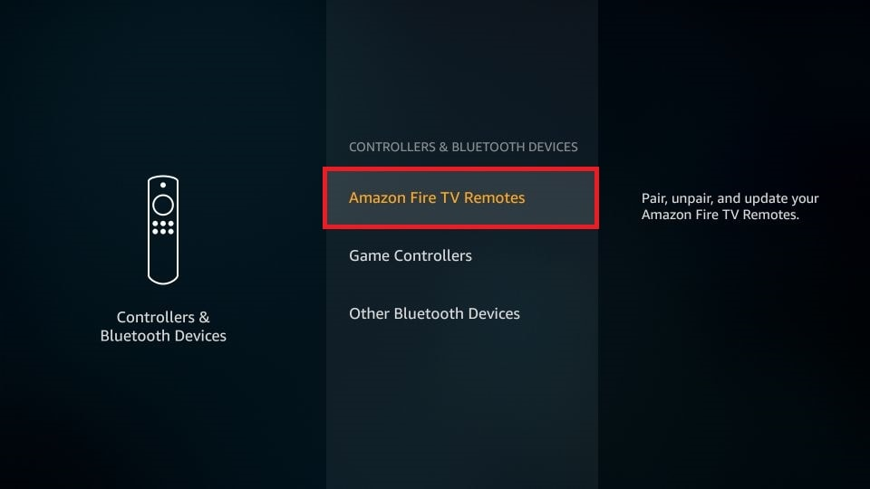 choose Amazon Fire TV Remotes