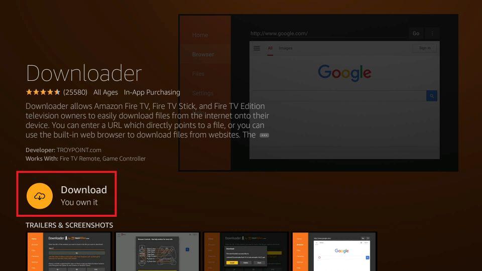 download Aptoide on Firestick