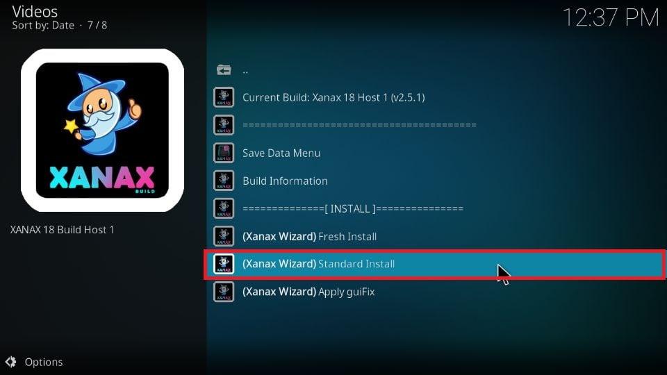 download Xanax Kodi build on Kodi