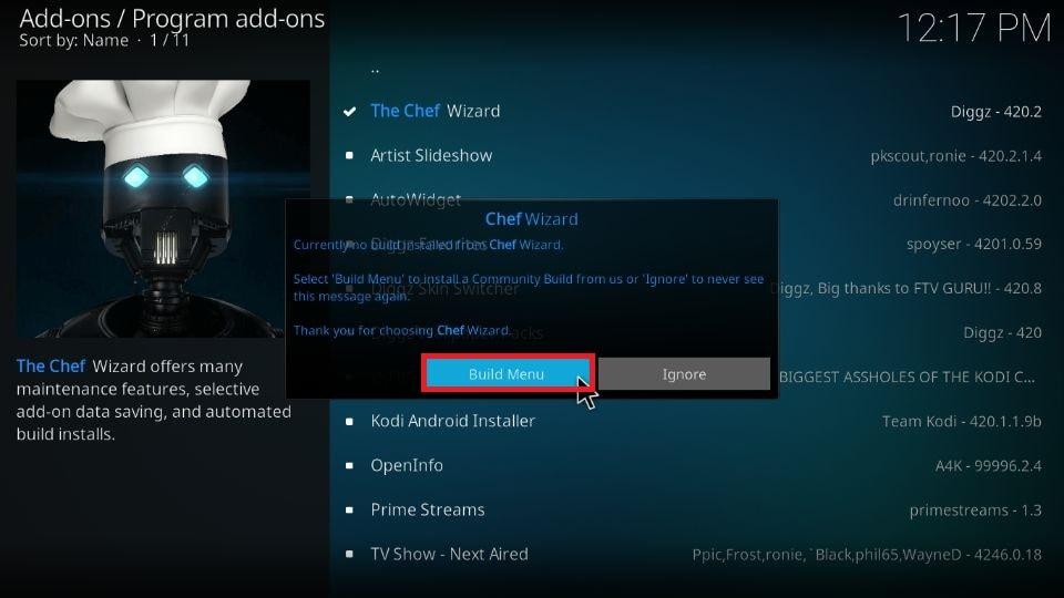 download Kodi Xenon Build on Kodi