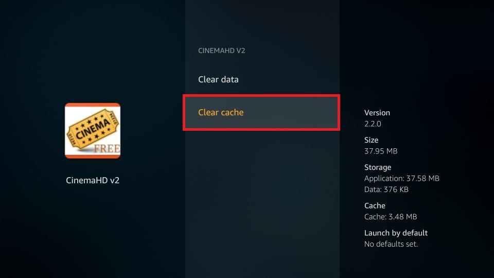 how to clear cache on Fire Stick