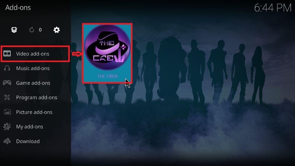 how to use The Crew addon on Kodi