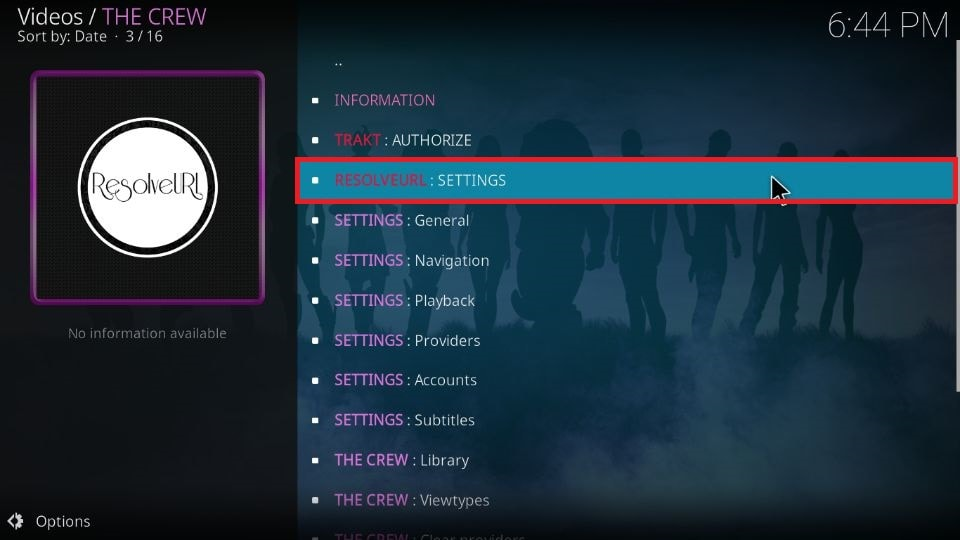 set up Real Debrid on The Crew on your Kodi