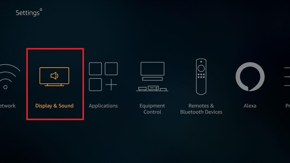 click Display & Sound