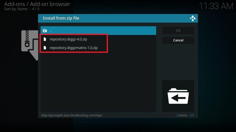 choose repository.diggz-x.x.zip