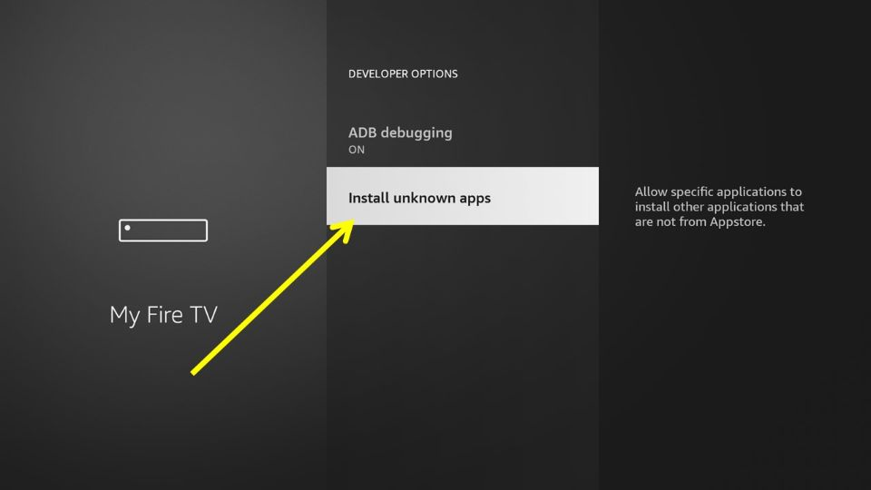 click install unknown apps