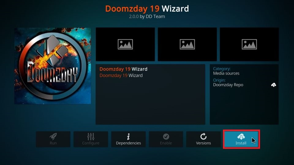 set up Doomzday build on Kodi
