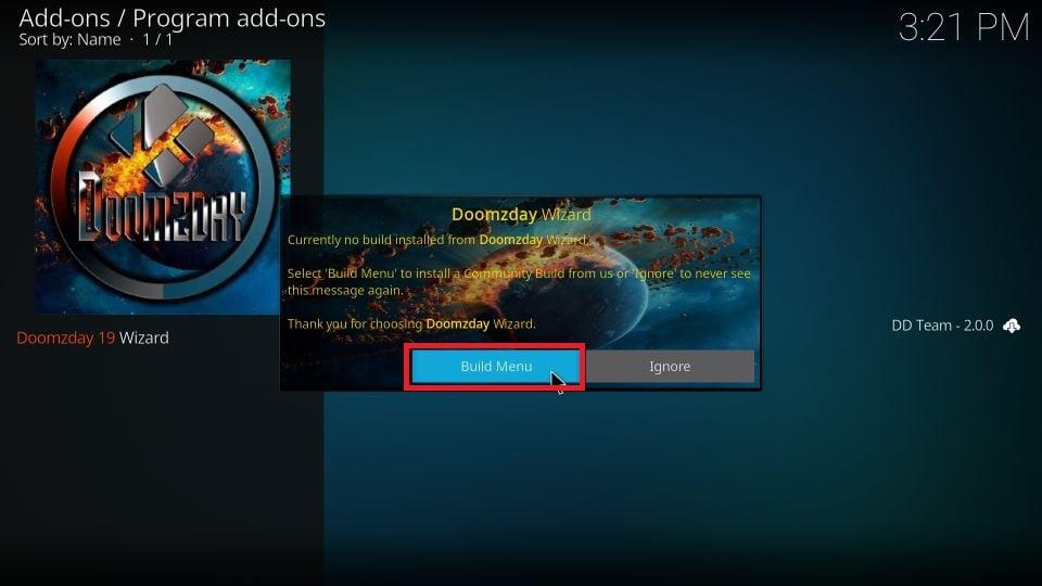 steps to install Doomzday build