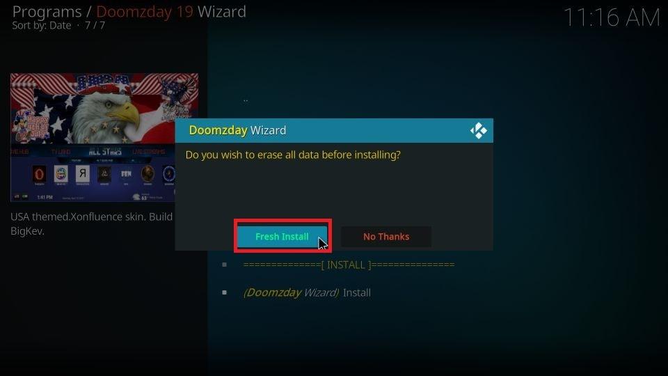 how to get Doomzday build on Kodi