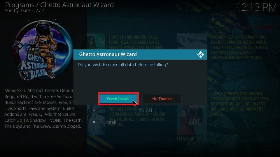 how to install Ghetto Astronaut build on Kodi 19 Matrix