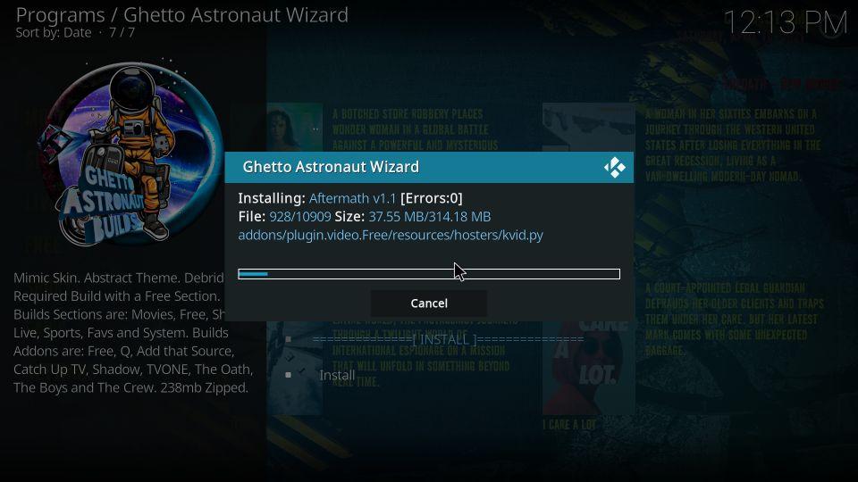 steps to install Ghetto Astronaut build