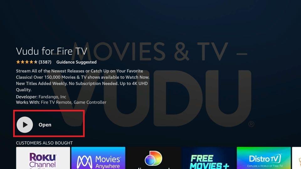 download Vudu on firestick
