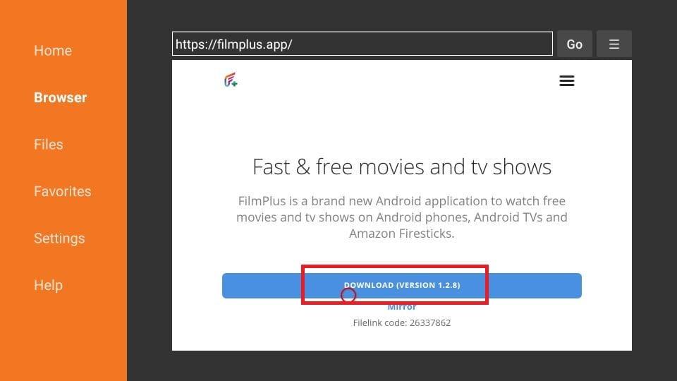 FilmPlus on FireStick
