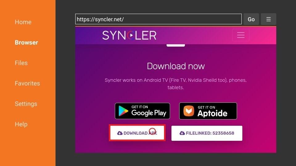 Syncler on FireStick