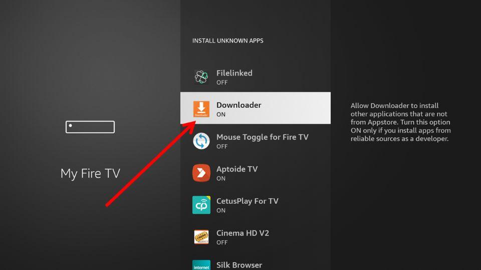 download AOS TV on FireStick