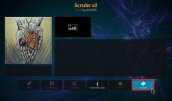 how to install Scrubs V2 addon on Kodi