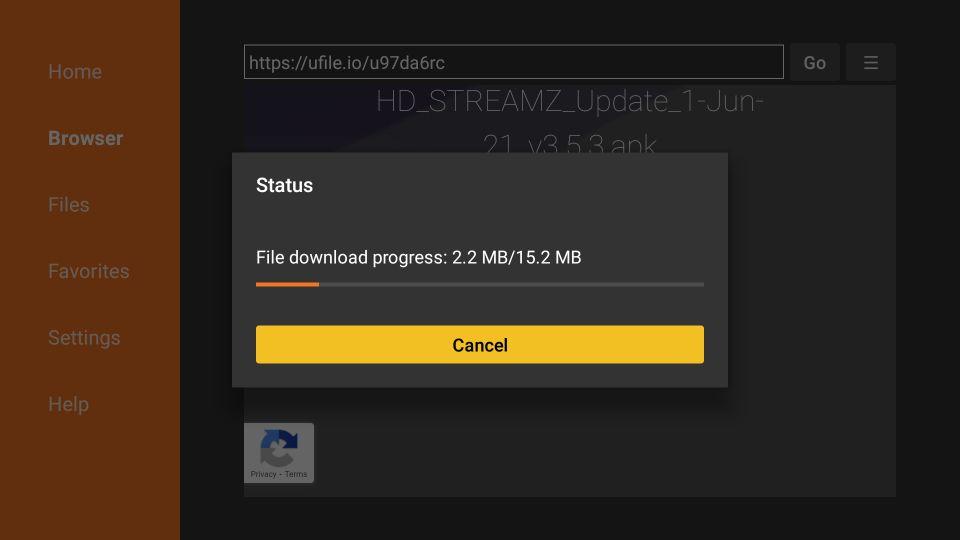 hd streamz apk for Firestick