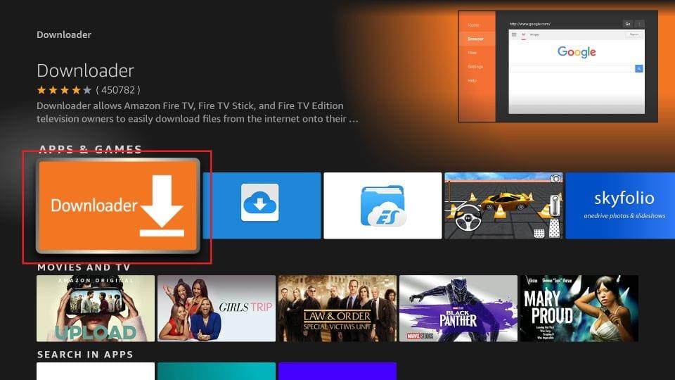 click Downloader app icon