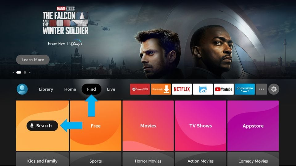 how to install live net tv on firestick