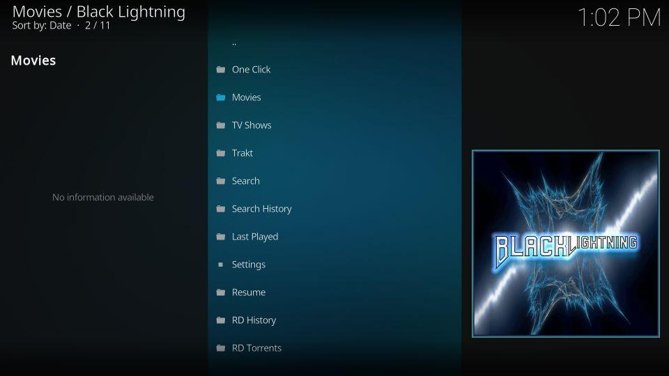 set up Black Lightning addon on Kodi